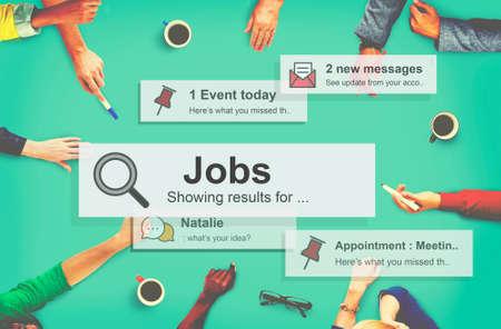 employing: Job Employment Hiring Career Occupation Concept