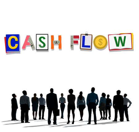 people looking up: Cash Flow Money Currency Economy Finance Investment Concept Stock Photo
