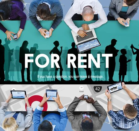 borrow: For Rent Rental Available Renting Borrow Property Concept
