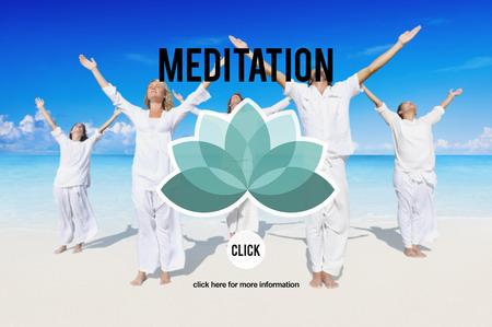 consideration: Meditation Focus Contemplation Consideration Peaceful Concept