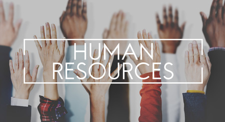 the human hand: Human Resources Employment Issues Concept