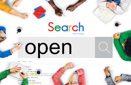 disclosed: Open Entrance Revealed Service Disclosed Concept Stock Photo