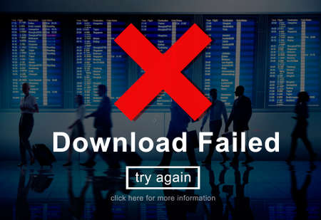 failed: Download Failed Data Error Incomplete Load Concept