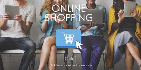Compras en línea de Commerce E-Business Concept Foto de archivo - 54883824