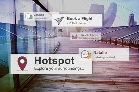 hotspot: Hotspot Technology Network Internet Connection Concept