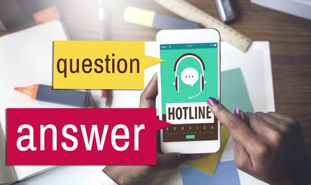 Hotline customer service concept
