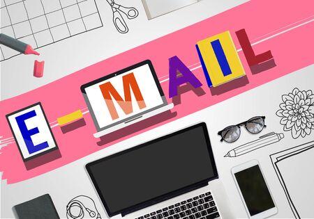 correspondence: Concepto de correo electrónico correspondencia Comunicación Palabra Estilo