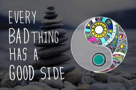 happenings: Experience Good Positive Qoute Encouragement Concept Stock Photo