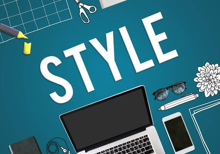 trendy: Style Fashionable Trends Hipster Trendy Concept