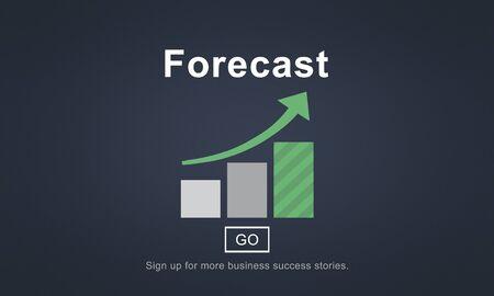 forecast: Forecast Estimate Future Planning Predict Strategy Concept