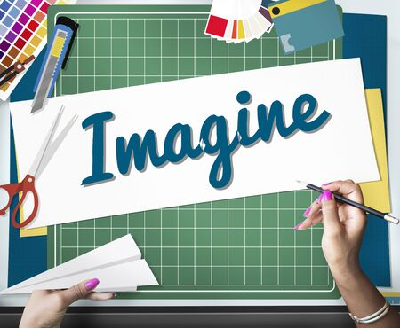 dream vision: Imagine Imagination Vision Creative Dream Ideas Concept Stock Photo