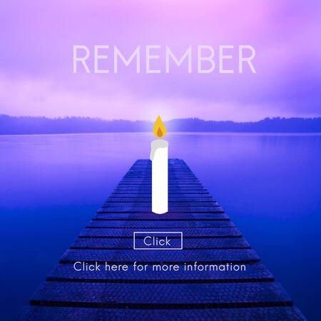 remember: Recuerde Vela Reconocer Oren Concept