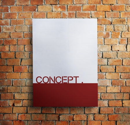 Copy space concept on brick wall Imagens