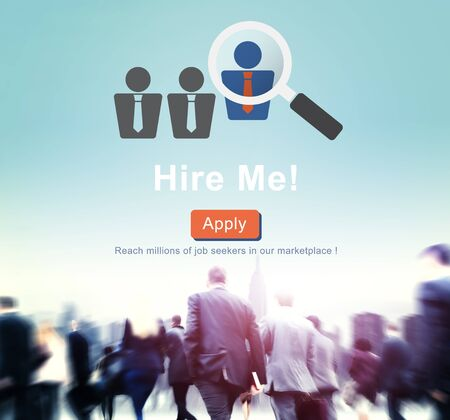Hire Me Career Employment Hiring Occupation Concept Stock Photo