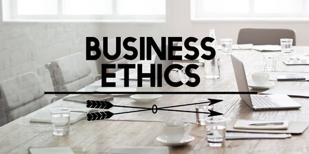 no integrity: Business Ethics Integrity Moral Policies Concept