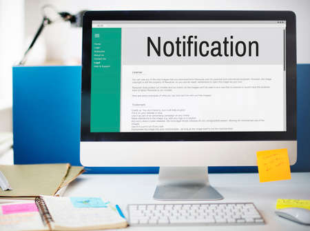 inbox: Notification Alert Icon Inbox Internet Message Concept