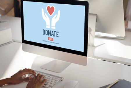 organ donation: Donate Charity Give Help Offering Volunteer Concept