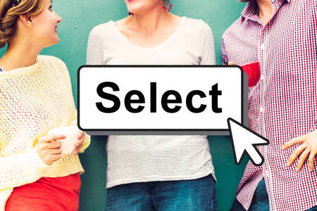 selecting: Select Pick Selecting Compare Selection Targeting Concept Stock Photo
