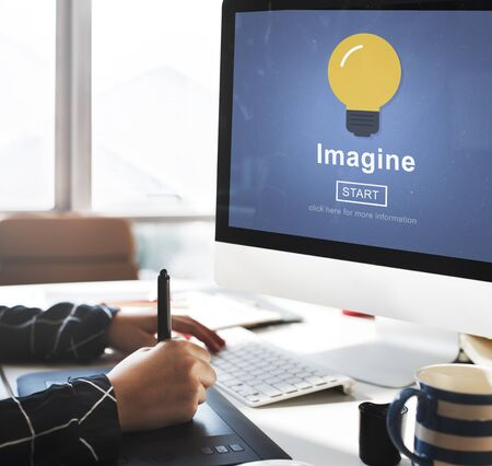 visualise: Imagine Think Innovate Visualize Ideas Concept