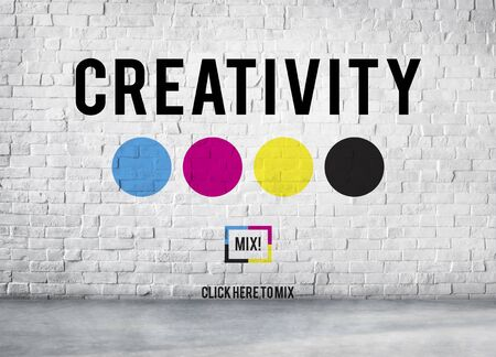 Creativity Color Imagination Creating Process Concept Stock Photo