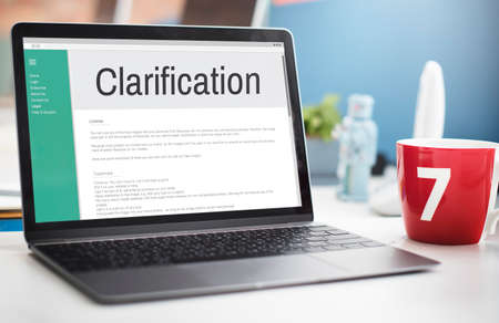 question concept: Clarification Determination Explanation Question Concept Stock Photo