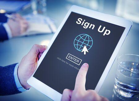 Únete a este Registro de Ingreso Solicitante Enroll Introduzca membresía Concept