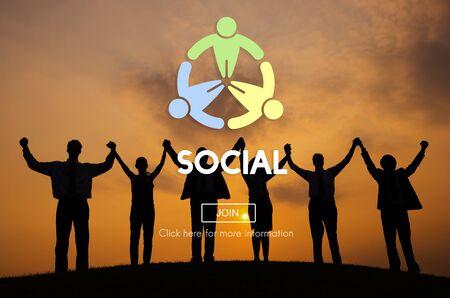 Social Socialize Society Unity Community Global Concept Stock Photo