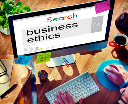 insider trading: Business Ethics Moral Integrity Honesty Trust Concept Stock Photo