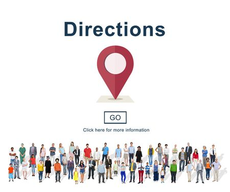 exploration: Directions Exploration Magnet Map North South Concept