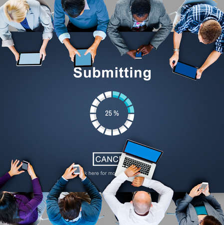 submitting: Submitting Online Internet Loading Progress Website Concept Stock Photo
