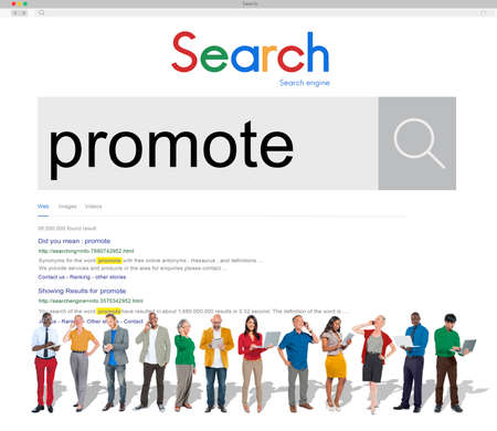 advertise: Promote Communication Branding Advertise Concept Stock Photo