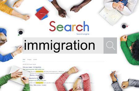 Immigration Menschen Dibersity Asylum Konzept