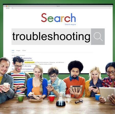 solucion de problemas: Troubleshooting Problem Solve Inspection Repair Concept