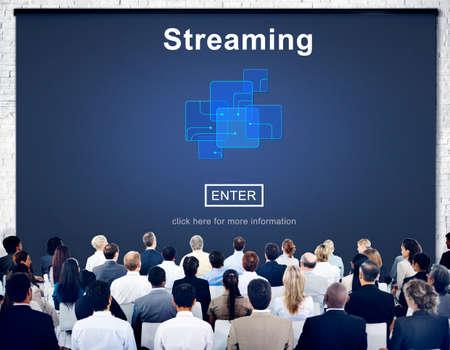 streaming: Streaming Internet Computer Media Transfer Data Concept