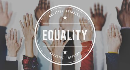 uniformity: Equality Balance Fairness Respect Relationship Concept Stock Photo