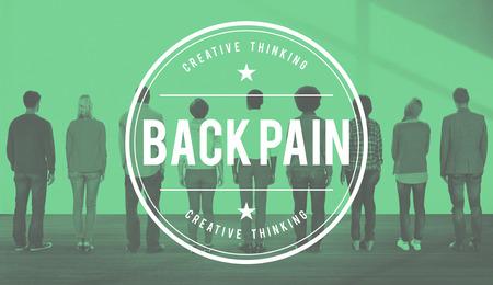 medula espinal: La artrosis dolor de espalda Dolor de Osteopatía de la médula espinal Concept Foto de archivo