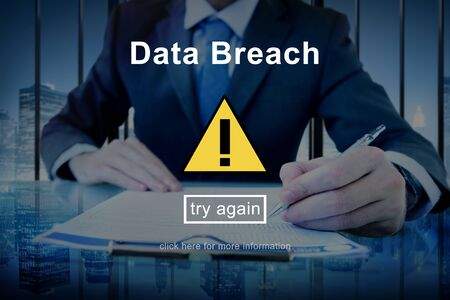 breach: Data Breach Warning Sign Concept