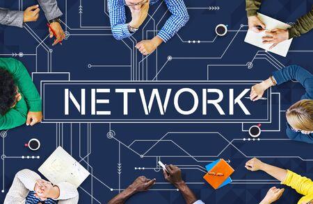 net meeting: Network Internet Online Technology Future Concept