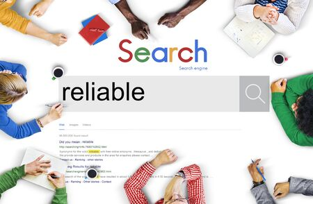 reliable: Reliable Commitment Responsible Trusting Quality Concept