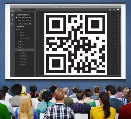 coding: QR Code Encryption Interface Coding Concept