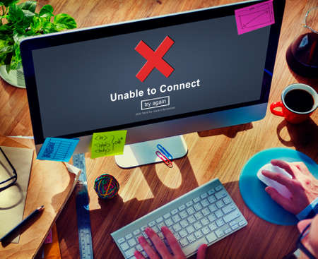 unavailable: Unable to Connect Disconnected Inaccessible Unavailable Concept