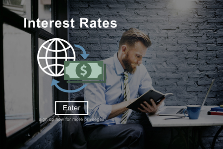 rates: Interest Rates Loan Money Percentage Profit Concept Stock Photo