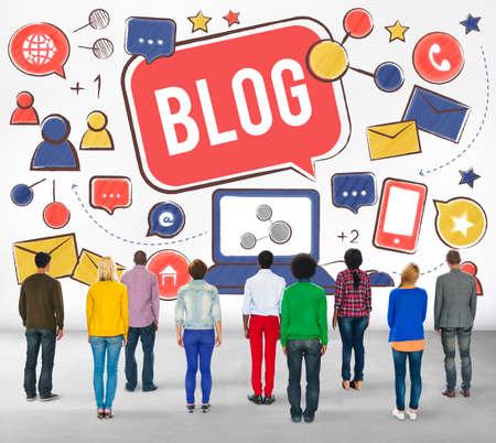 multi story: Blog Blogging Social Network Online Internet Concept