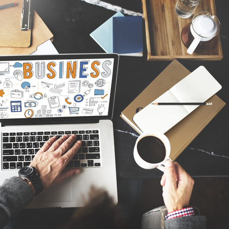 Business concept on a laptop