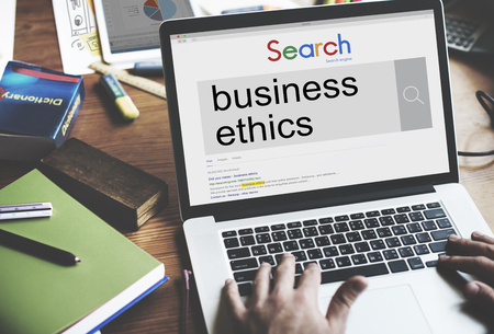 integrity: Business Ethics Moral Integrity Honesty Trust Concept Stock Photo