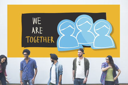 colleagues: We Are Together Teamwork Illustration Concept Stock Photo