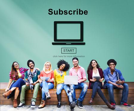 membership: Subscribe Advertising Marketing Membership Concept Stock Photo