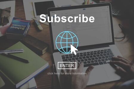 Subscribe Feed Register Homepage Network Concept