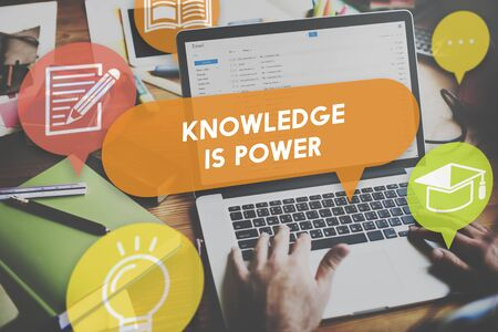 knowledge is power: Knowledge Power Education Career Insight Concept Stock Photo
