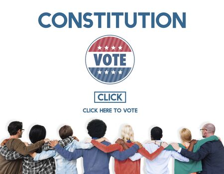elect: Constitution Registration Regulations Rules Principles Concept Stock Photo